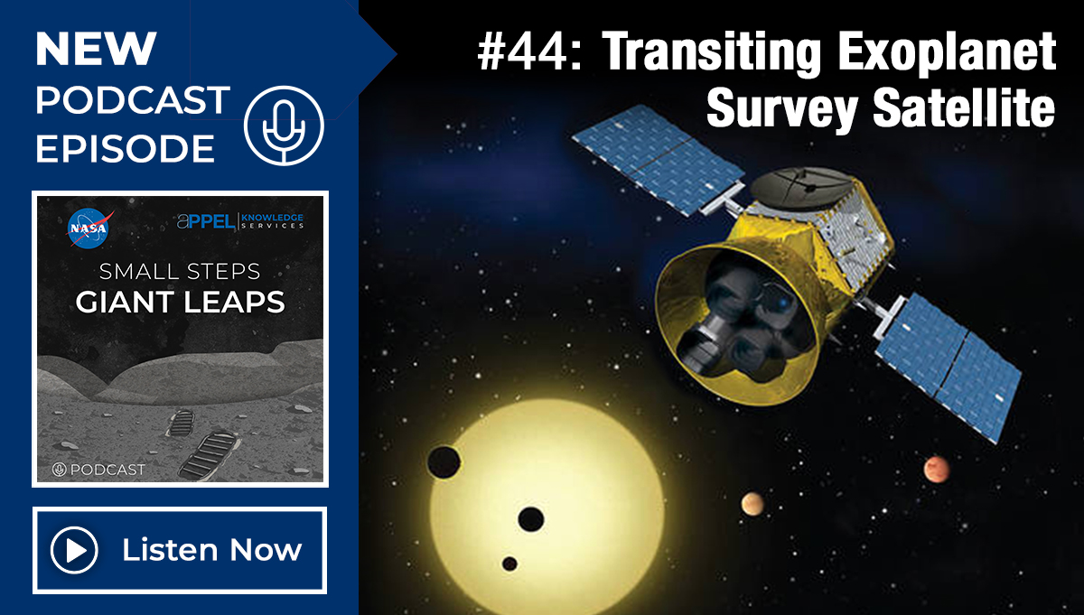 New Podcast Episode 44: Transiting Exoplanet Survey Satellite