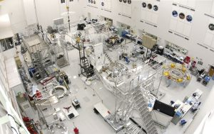 This wide-angle view shows the High Bay 1 cleanroom inside the Spacecraft Assembly Facility at NASA's Jet Propulsion Laboratory, Pasadena, Calif. Credit: NASA/JPL-Caltech