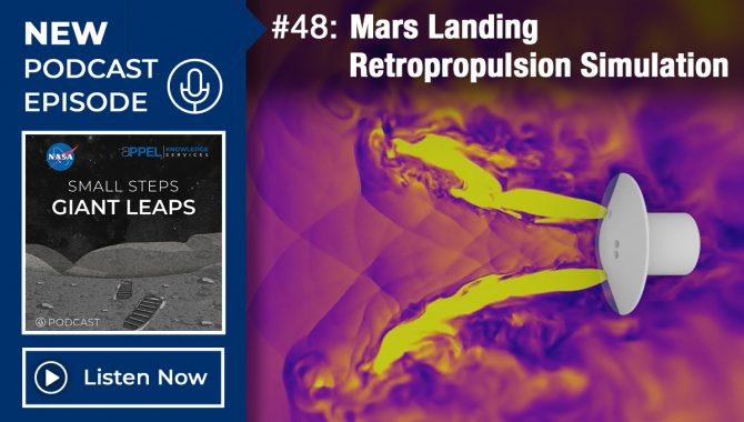 Podcast Episode 48: Mars Landing Retropropulsion Simulation