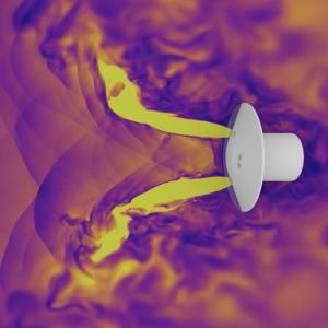 Mars Landing Retropropulsion Simulation