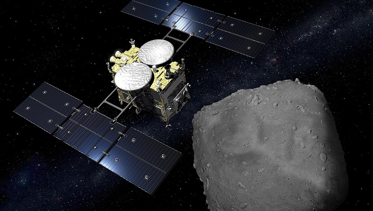 The Hayabusa2 spacecraft is a modified version of the Hayabusa design. Credit: NASA