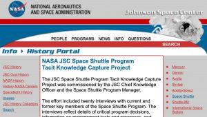 JSC Space Shuttle Program Tacit Knowledge Capture Project