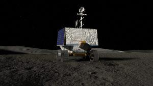 An illustration of NASA's Volatiles Investigating Polar Exploration Rover, or VIPER. Credit: NASA/Ames Research Center/Daniel Rutter