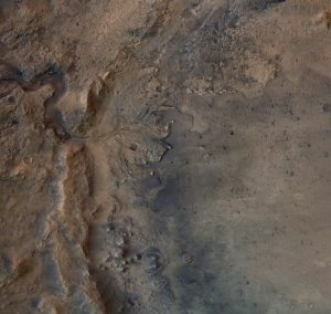 Jezero Crater as seen by ESA's Mars Express Orbiter. Credit: ESA/DLR/FU-Berlin