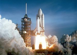 The launch of Space Shuttle Columbia. Credit: NASA