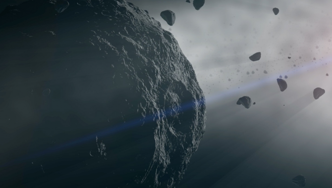 A team led by NASA researchers was able to use data from the more than two years OSIRIS-REx spent examining Bennu to model the asteroid's orbital trajectory with unprecedented precision through 2300. Credit: NASA